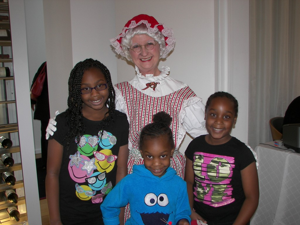 Mrs. Claus and the kids