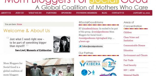 Mom Bloggers for Social Good Website Launched to Bring Awareness to Non-Profits Making a Big Difference.