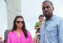 Kim and Kanye all Boo'd up over in Rio De Janeiro and Kim shows off budding baby bump