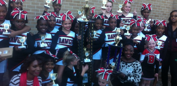 Beulah Bulldawgs Cheerleaders won 1st Place in Junior competition at Beach Jam