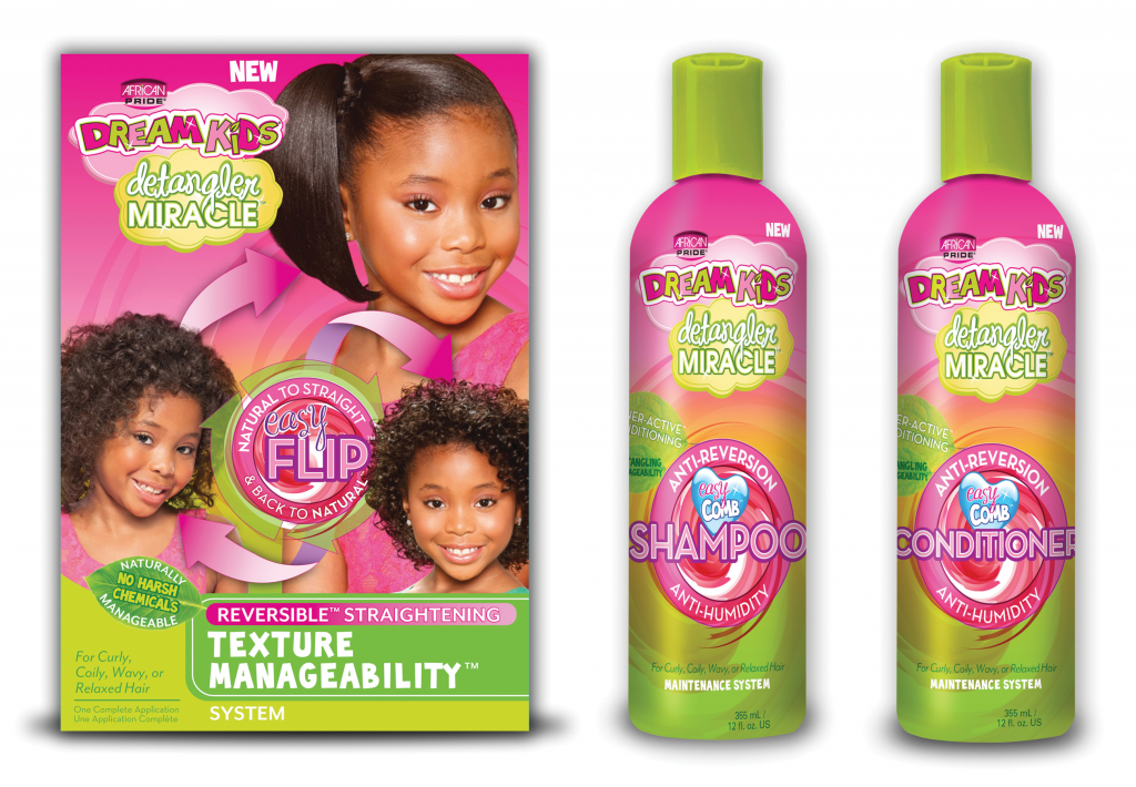 African Pride Dream Kids Detangler Miracle Trio