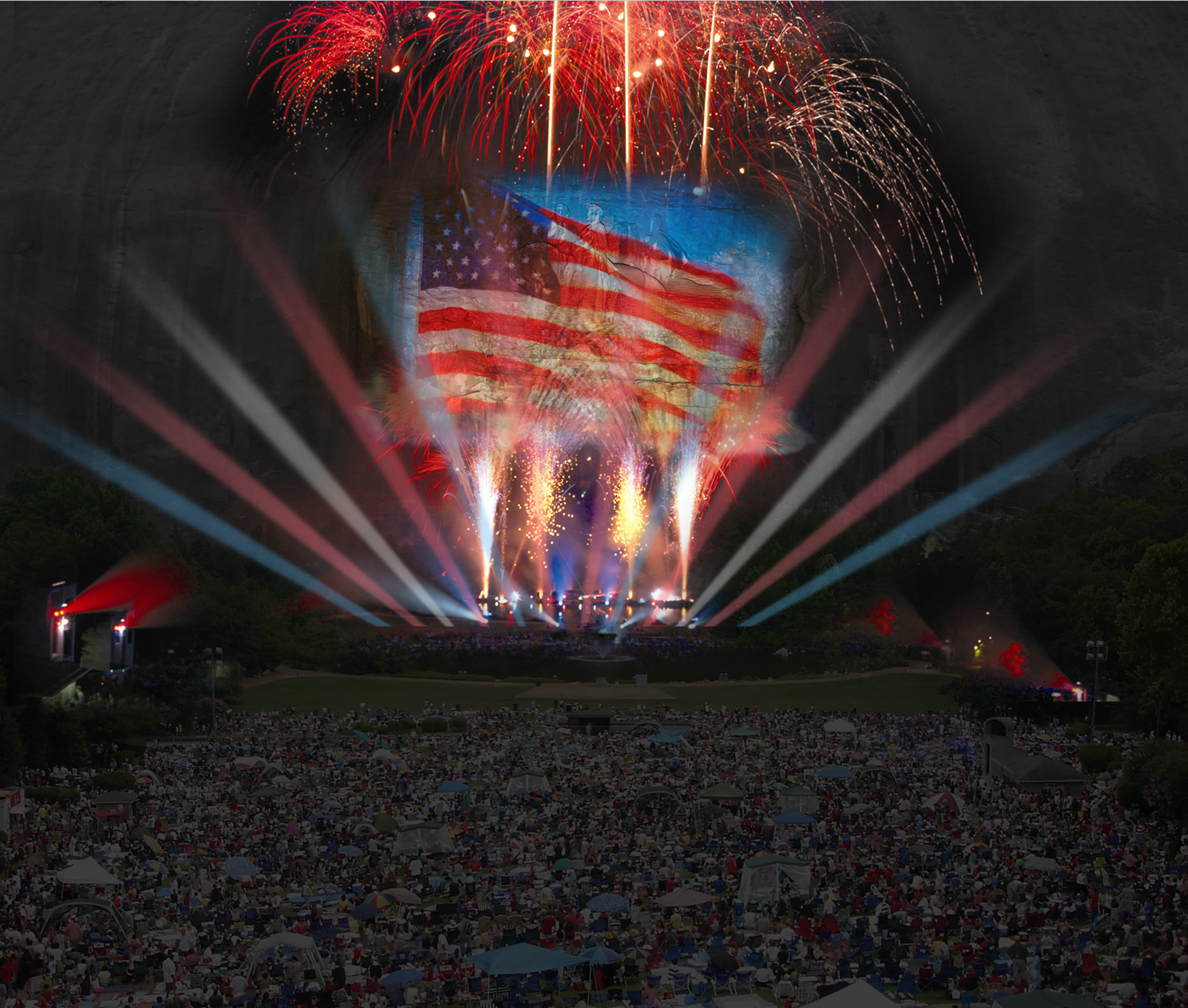 stone mountain has an all new lasershow and we re invited to the