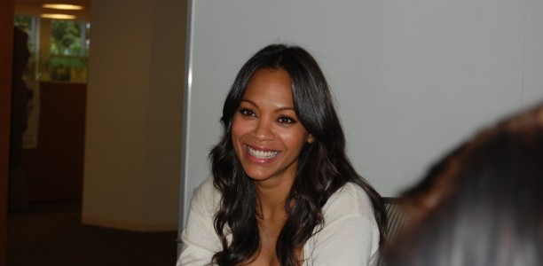 @ZoeSaldana Talks being a Great Role Model in Green #GuardiansoftheGalaxyEvent