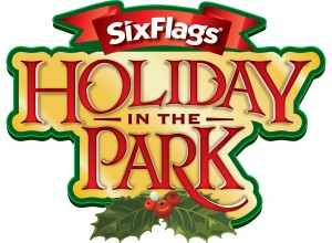 Six flags holiday in park logo