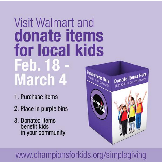 Aaron Weatherford on Twitter   @Champions4Kids #SIMPLEGIVING 2015 launches tomorrow in @Walmart stores! Visit http   t.co SSyKkCXkIP for details! http   t.co UiAULAFagI