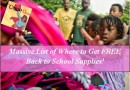 Massive List of Where to Get FREE Back to School Supplies!