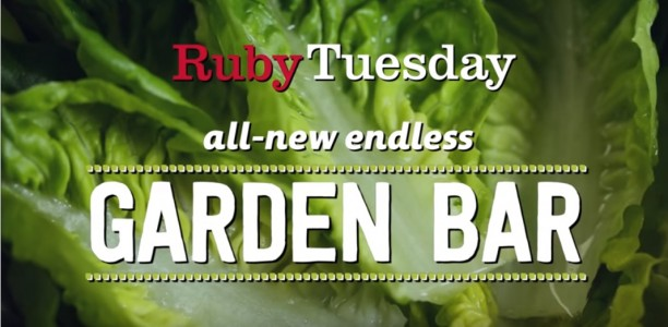 Let's Talk About FRESH baby! Ruby Tuesday Debuts New FRESH Garden Bar! #SaladSelfie